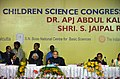 A.P.J. Abdul Kalam and the Union Minister for Science & Technology and Earth Sciences, Shri S. Jaipal Reddy at the Children's' Science Congress as part of the centenary of the Indian Science Congress, in Kolkata.jpg