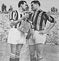AC Milan v Juventus (friendly match) - San Siro, 1950 - Carlo Parola and Gunnar Nordahl.jpg