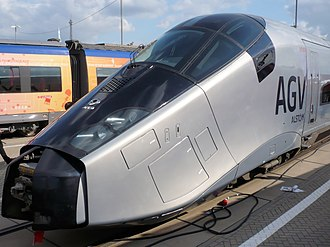 High Speed 2 - A 2008 Alstom AGV, an example European-profile high-speed train
