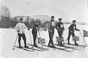 Cross-country skiing (sport) - Local championship, Ballangen, Norway, 1925