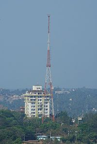 All India Radio's FM tower at Kadri
