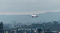 ANA Boeing 787-8 JA801A Final Approach over Yuanshan 20141101.jpg