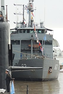 Multipurpose auxiliary ship in service with the Argentine Navy since 2000.