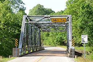 National Register of Historic Places listings in Fulton County, Arkansas - Image: AR 289 Bridge Over English Creek