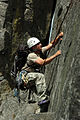 A 1st Special Forces Group (Airborne) soldier climbs Castle Rock near Leavenworth Washington.jpg