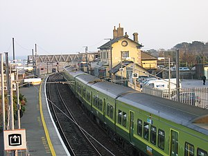 Greystones - DART train at Greystones Station