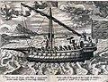 A Portuguese boat on the Malabar Coast, from 'Navigatio Acitinerarium' by Iohannis Hugonis Linscotani (Jan Huygen Linschoten), 1599.jpg