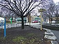 A TV show, 'Green Spaces', had a half-hour episode about the renovation of this park on the NW corner of Gerrard and Parliament streets, Toronto -c - panoramio.jpg
