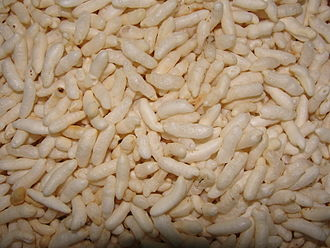 Puffed rice - Image: A closeup of puffed rice