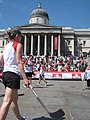 A game of Canadian street hockey on Trafalgar Square.jpg