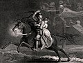 A knight and his lover astride a horse try to escape ghostly Wellcome V0042183.jpg