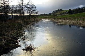 English: A quiet time for the River Carron. A ...