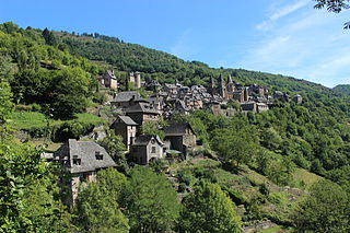 Conques Part of Conques-en-Rouergue in Occitanie, France