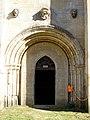 Abbaye Notre-Dame du Val - Porte de la salle capitulaire.jpg