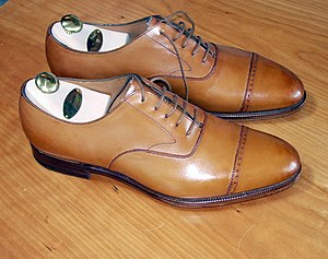 Acorn colored captoe oxfords.