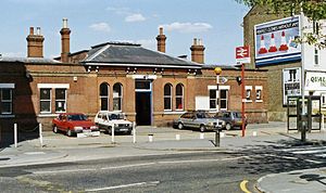 Addiscombe railway station - Addiscombe station in 1990