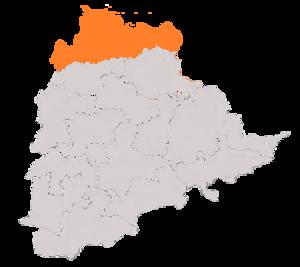 Adilabad (Lok Sabha constituency) - Boundary of Adilabad Constituency in Telangana