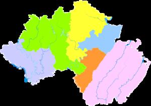 Guang'an - Image: Administrative Division Guang'an