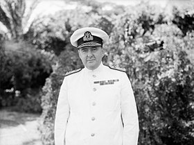 Admiral Sir Henry Harwood, Kcb, Obe, Commander in Chief, Mediterranean. 31 August 1942, Alexandria. A13964.jpg