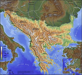 Southeast Europe - Geographic features of southeast Europe