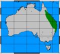 Aepyprymnus rufescens range map.png