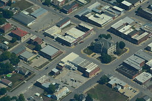 Aerial view of Carrollton, Missouri - 9-2-2013.JPG