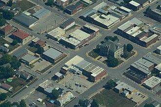 Carrollton, Missouri - Aerial view of Carrollton, Missouri