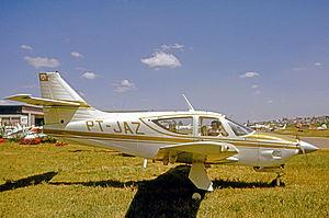 Rockwell Commander 112 - Brazilian-registered Commander 112 at São Paulo's Campo de Marte Airport in 1975.
