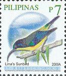 Aethopyga linaraborae 2009 stamp of the Philippines.jpg