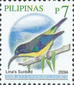 Aethopyga linaraborae 2009 stamp of the Philippines.jpg