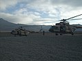 Afghan Air Force Mi-17 helicopters depart from the helicopter landing zone at Forward Operating Base Thunder in Paktia province, Afghanistan, Nov. 18, 2013, as part of a routine training flight 131118-A-CX194-012.jpg