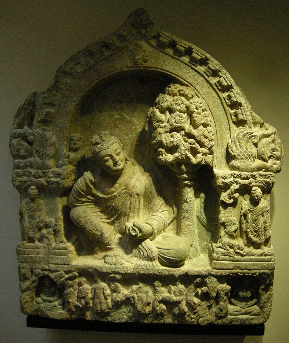Afghanistan, buddha assiso in maharajalilasa, II sec.