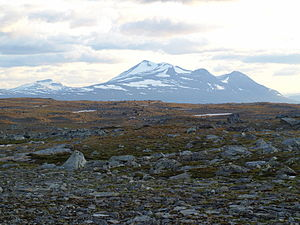 Scandinavian Mountains - Mount Áhkká in Stora Sjöfallet National Park, Northern Sweden