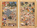 Akbarnama - Battle at Thaneshwar - double page.jpg