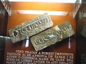 """Scorilo - A reproduction of the """"Decabalus per Scorillo"""" inscription"""
