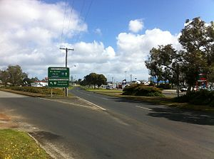 Albany Highway - Albany Highway and South Coast Highway intersection outside Albany