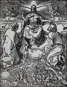 Das Jüngste Gericht, Holzschnitt (ca. 1510), aus Die kleine Passion (Quelle: Wikimedia)