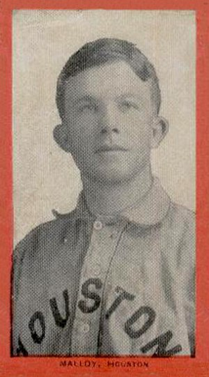 Alex Malloy - Malloy with the Houston Buffaloes of the Texas League in 1910.