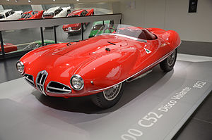 Alfa Romeo Disco Volante - Alfa Romeo 1900 C52 Disco Volante in the Alfa Romeo Museum