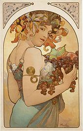 Alfons Mucha, Frutta, 1897.