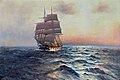 Alfred Jensen - Segelschiff auf See.jpg