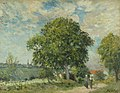 Alfred Sisley (1839-1899) - The Entrance to the Village - K4132 - Bristol City Museum and Art Gallery.jpg