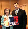 Alice Linahan and Kris Kobach Kansas, Secretary of State (13419571233).jpg