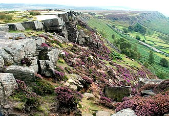 Threads - Curbar Edge, Peak District, where the scenes set six weeks after the attack take place.