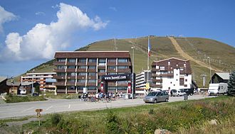 1989 Tour de France - The final straight of Alpe d'Huez, which hosted the finish of stage 17
