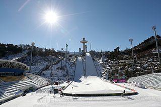 Alpensia Ski Jumping Stadium ski jumping hill located in Pyeongchang, South Korea