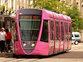 Alsrom tram pink wagon 102 of the Reimsmetropole.JPG