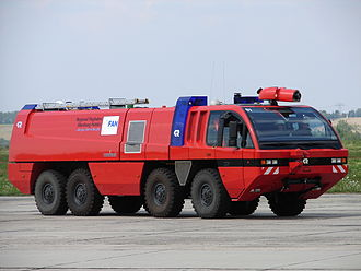 "Airport crash tender - ""FLF Panther"" airport crash tender in Germany"