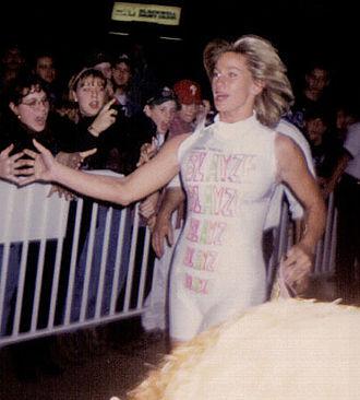 Madusa - Miceli as Alundra Blayze in 1995