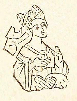 Elisabeth of Austria, Duchess of Lorraine - Image of Elisabeth from the 15th century